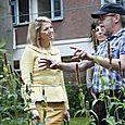 Prinses Maxima bezoekt Foodscape Schilderswijk
