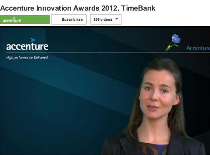 Blogpost Accenture Innovation Awards 2012, TimeBank - YouTube